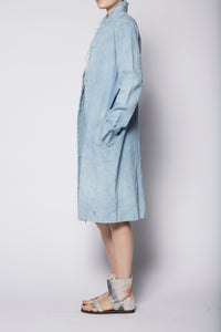 Raw Edge Minimal Coat- Linen