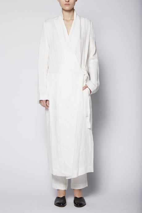 Wrap Asymmetric Linen Coat
