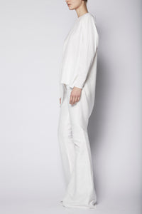 Asymmetric Oversized Wave Tunic Cotton/Chiffon Combo