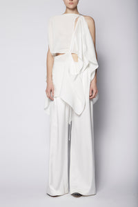 KES Heavy Wide Leg Silk Trouser