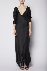 Augustine Double Wrap Dress with Sleeves
