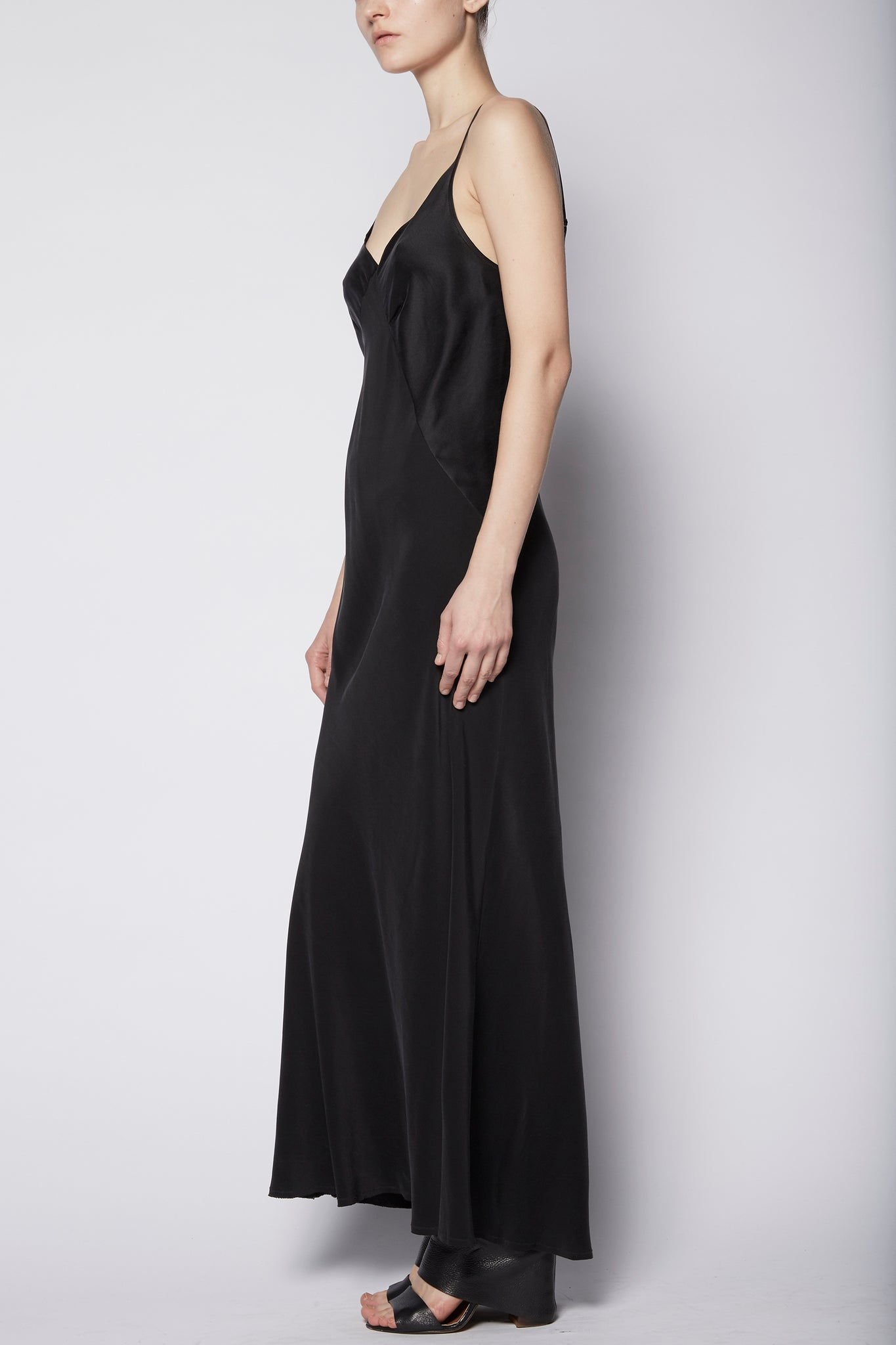 KES 7/8 Triangle Slip Dress - Black (pre-order)