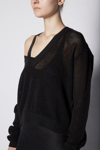 Lars Collaboration Fishnet V Sweater