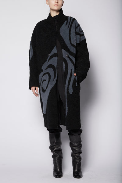Anne Vest Spiral Shearling Coat