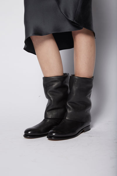 Silvano Sassetti X KES Cropped Draped Boot