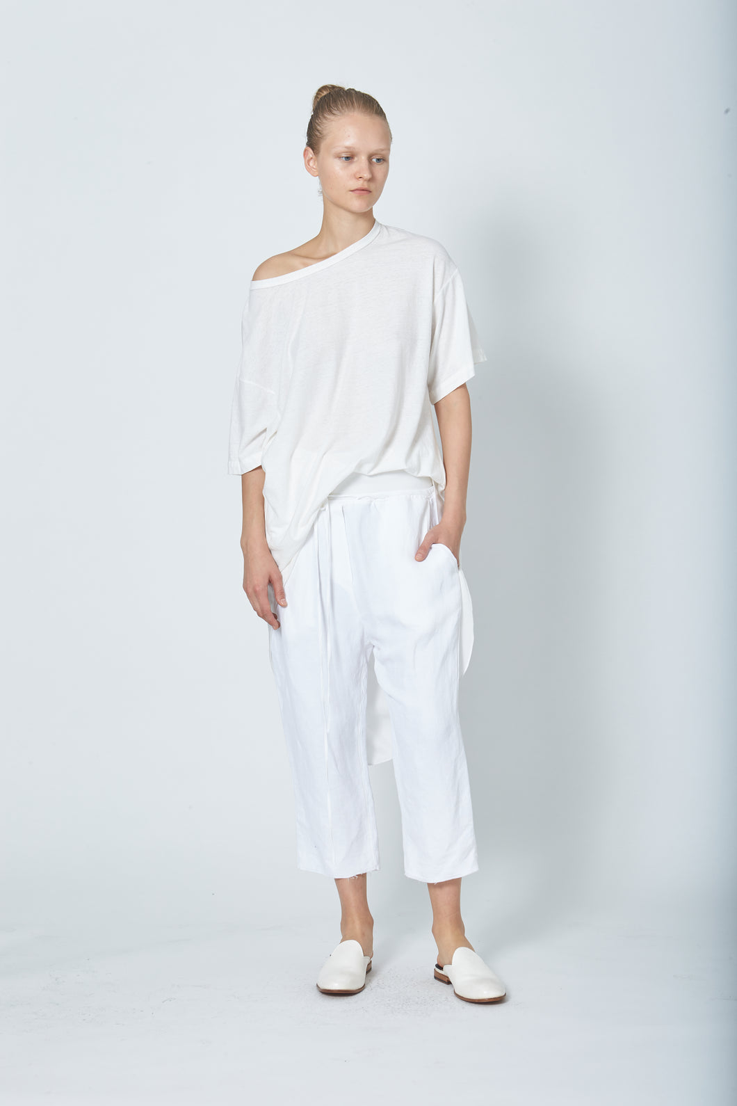 Draped Back Oversized T Combo