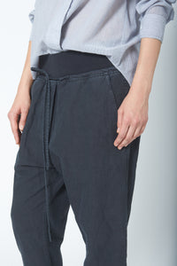 KES Drop Crotch Pant w/ Rib - Natural