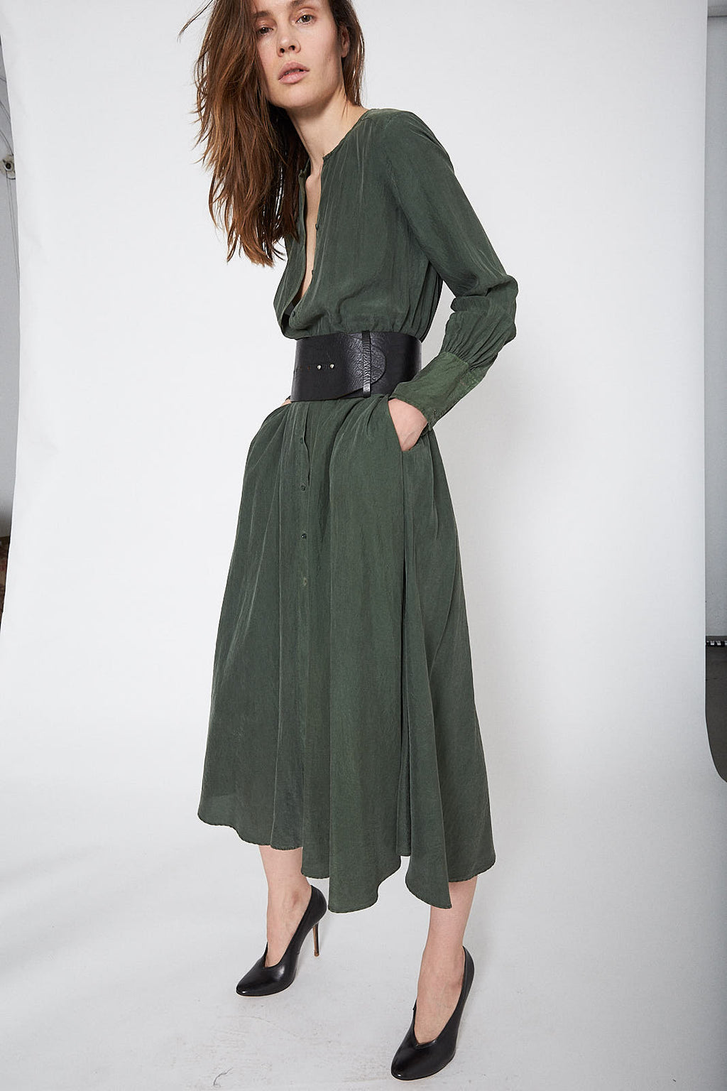 KES Cuffed Shirt Dress