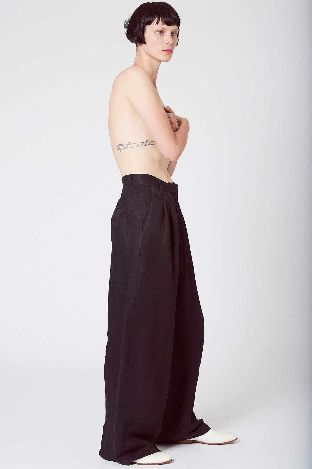 KES Pleated Wide Leg Pant FW19