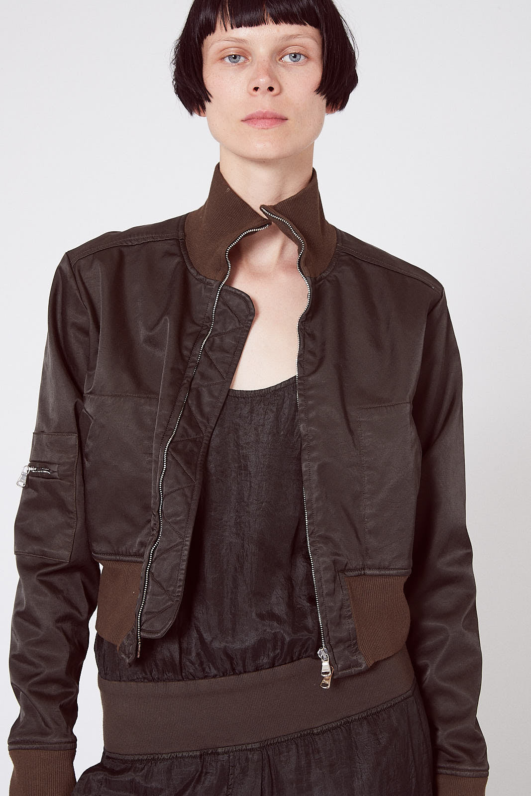 KES Cropped Aviator Bomber FW19