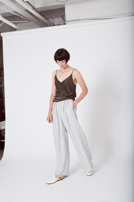 KES Ruched Wide Leg Pant FW19 (Pre-Order)