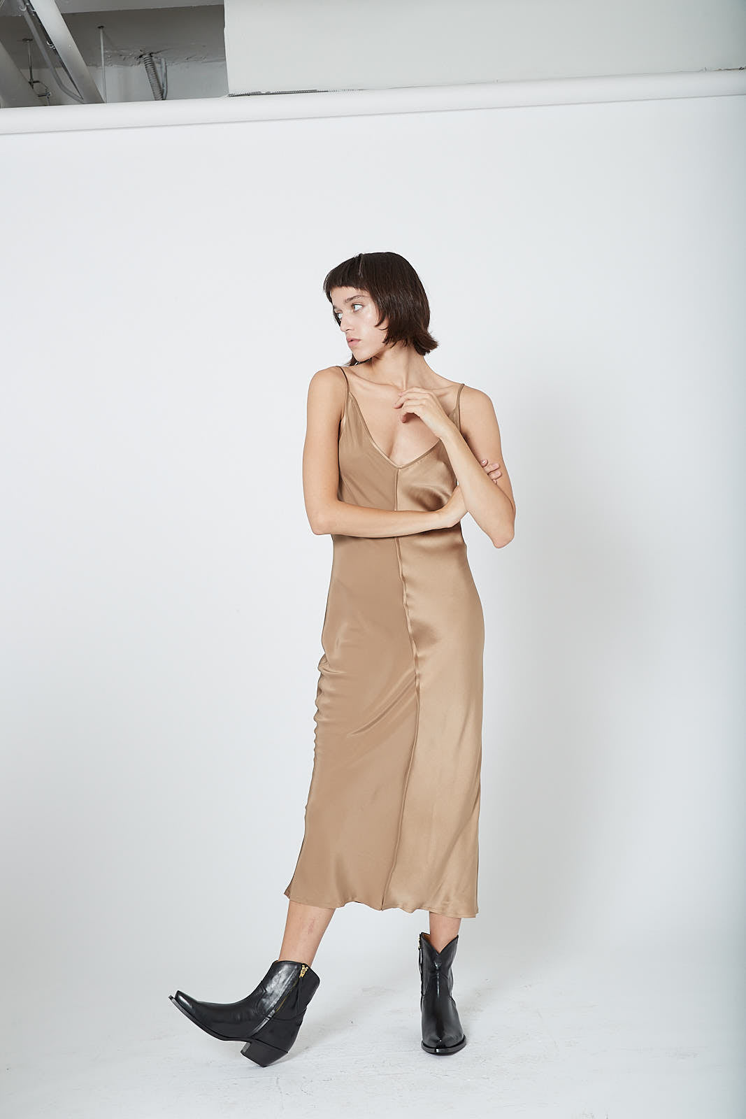 KES Quarter Slip Dress FW19 - Mud