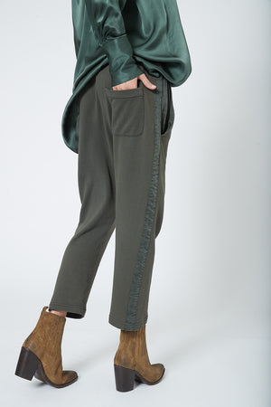 KES Drop Crotch Pants w/ Rib (Terry) - Deep Military