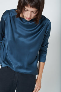KES Megan Top FW19 - Dusty Indigo