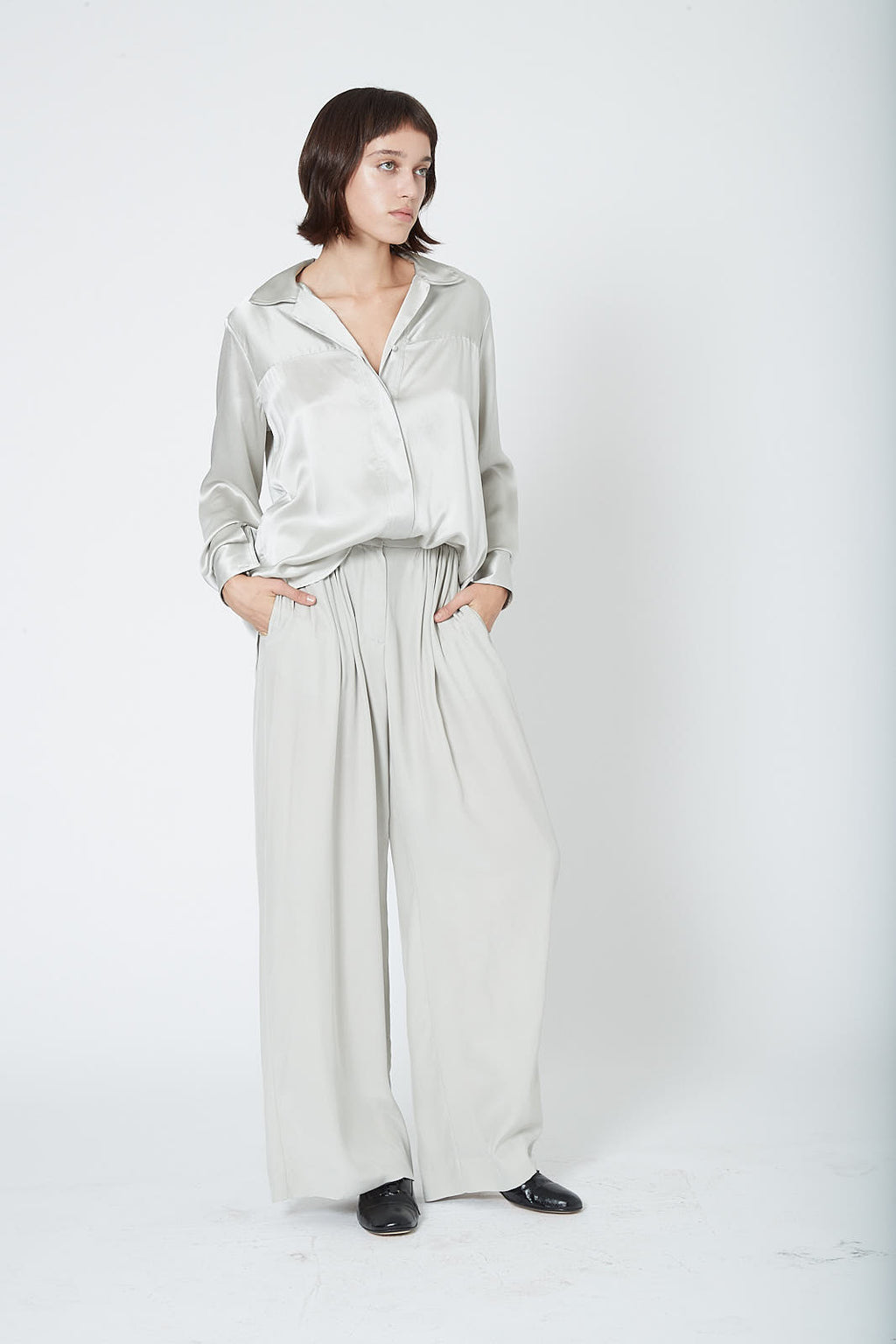KES Ruched Wide Leg Pant FW19