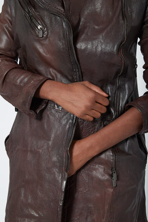 Numero 10 Mid Length Moto Leather Jacket