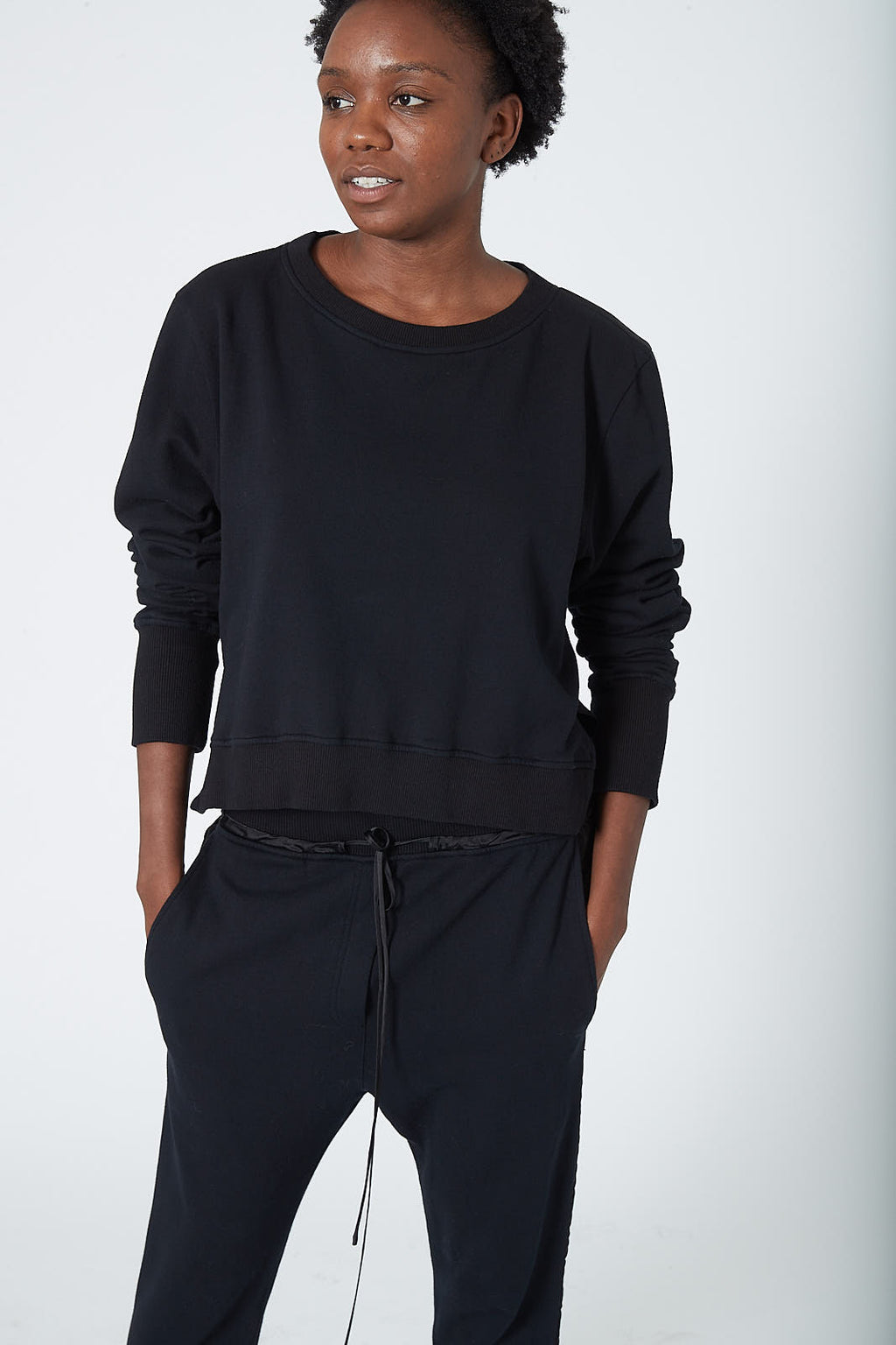 KES Draped Back Pullover Combo - Black