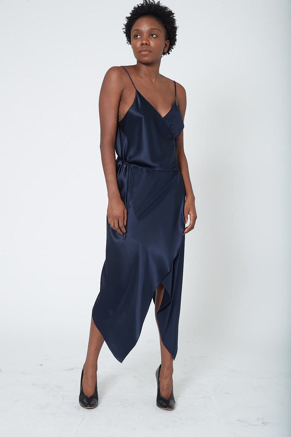 KES Augustine Double Wrap Dress FW19 - Midnight