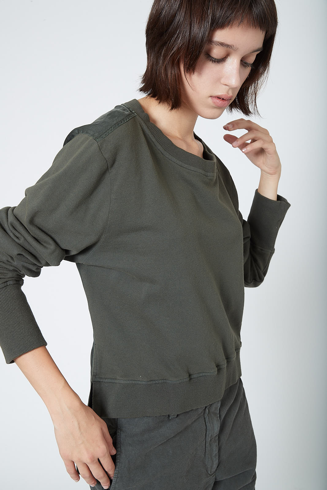 KES Draped Back Pullover Combo - Deep Military