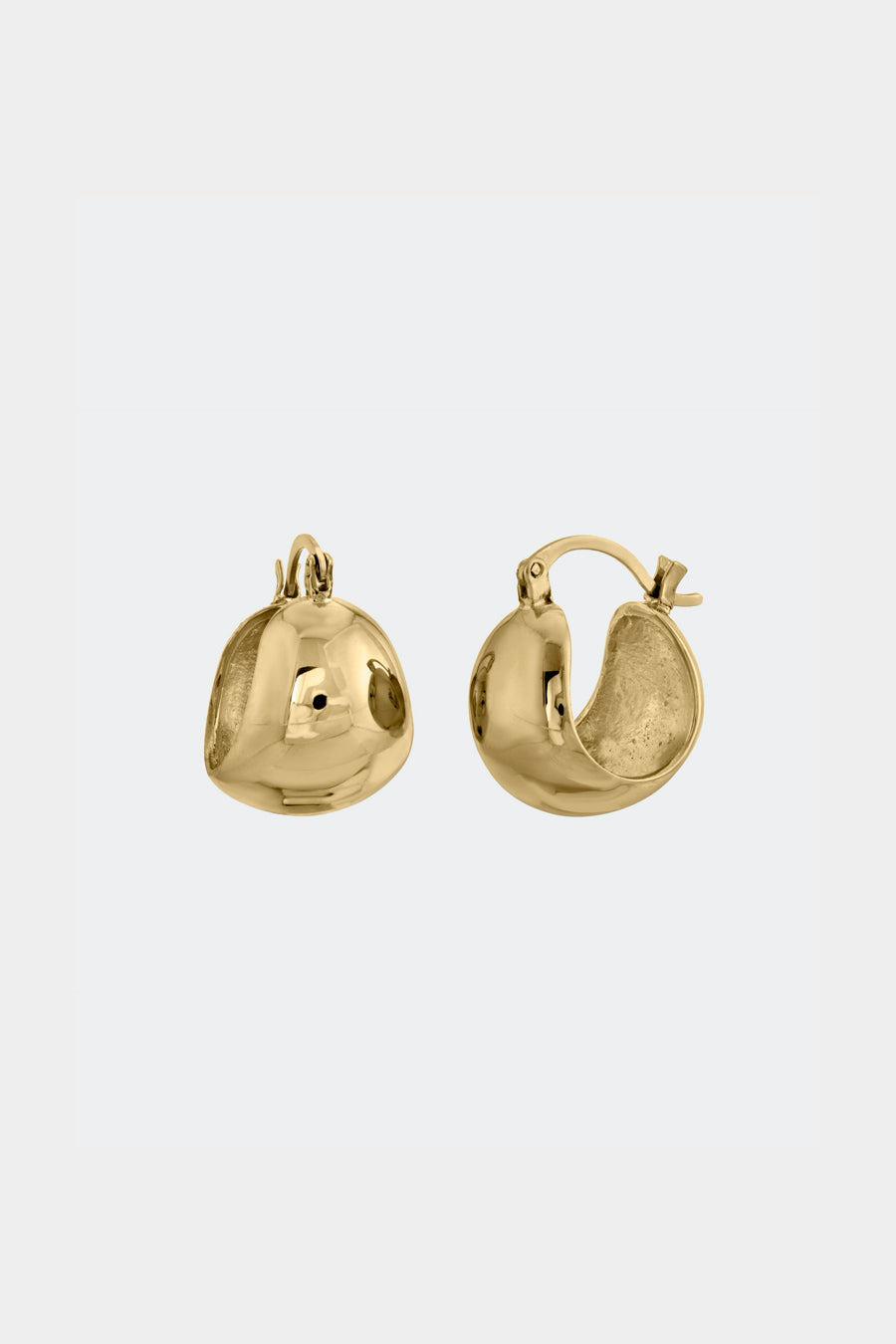 Modern Weaving Bubble Hinge Hoop Earrings (14k Gold)