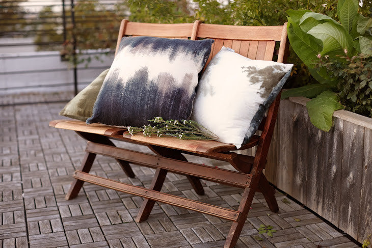 Saint Atma Inked Denim Pillow