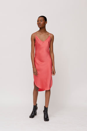 KES Elongated Scalloped Slip Dress SS20- Dusk Berry