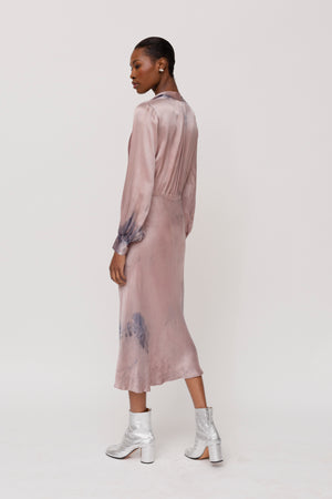 KES Levy Tunneled Dress- Organic Madder
