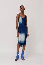 KES Elongated Scalloped Slip Dress SS20- Indigo