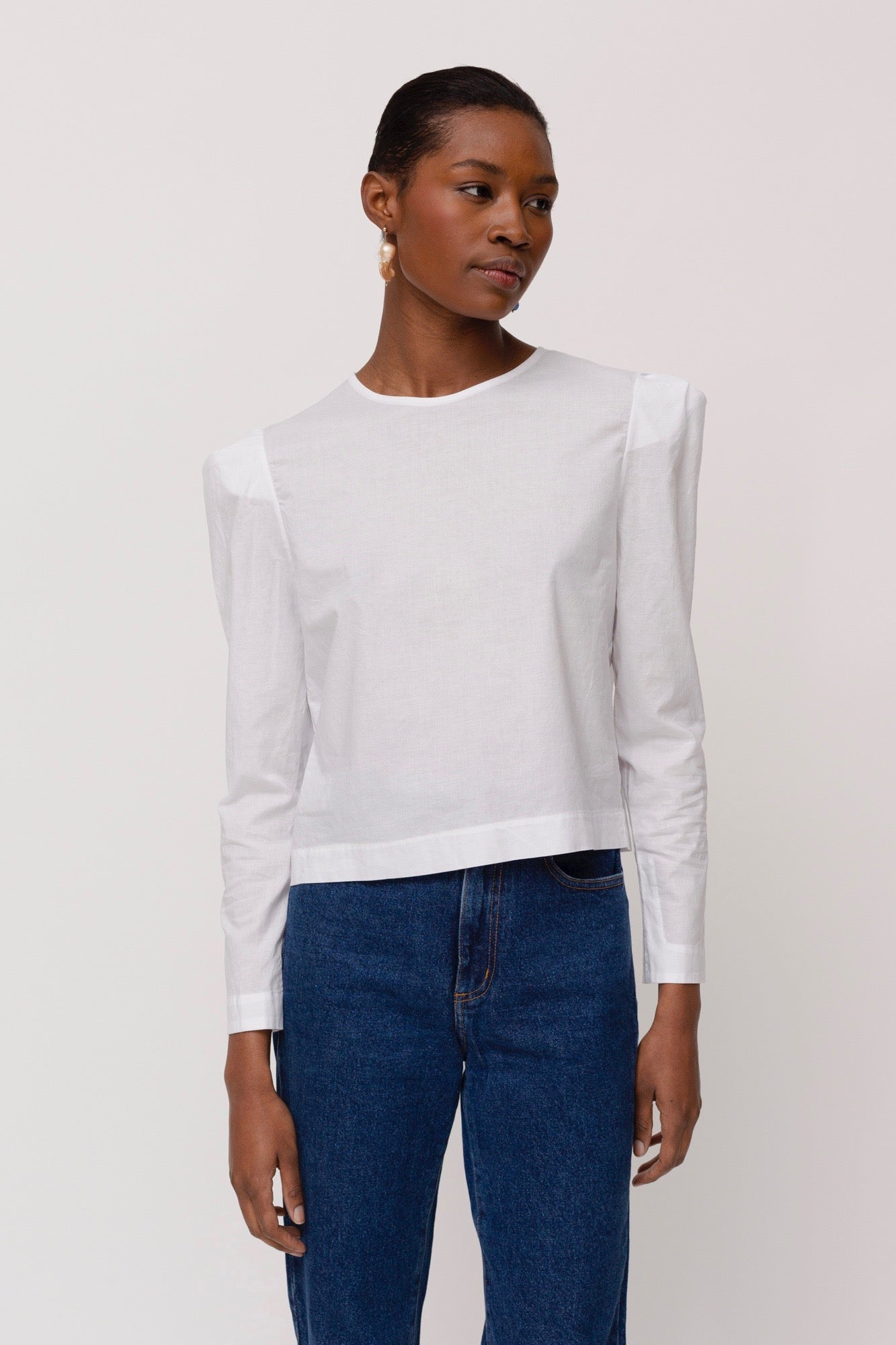 KES Erin Exaggerated Sleeve Blouse - Cotton