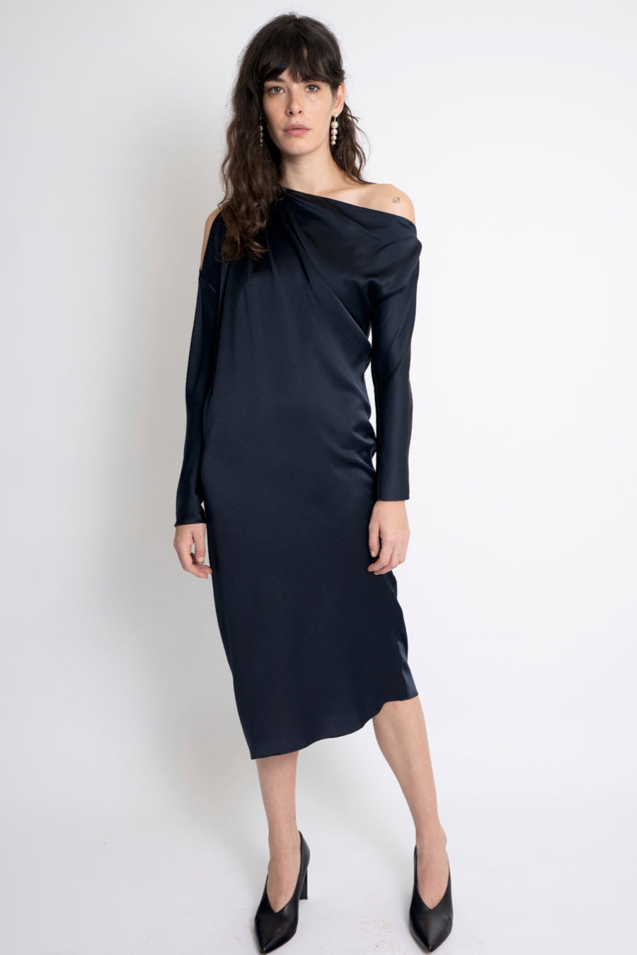 KES Zora Asymmetric Dress FW19 - Midnight