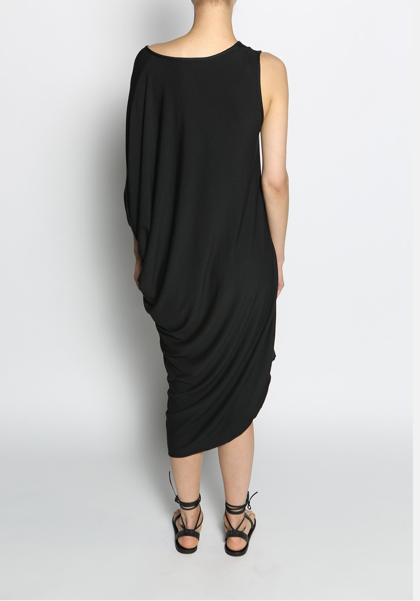 Elongated Cotton Asymmetric Dress