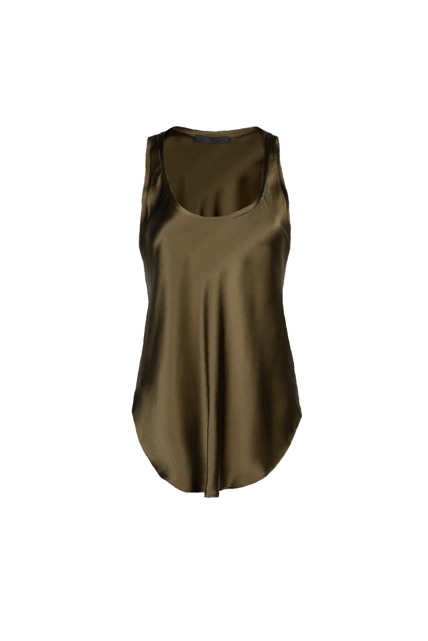KES Raw Edge Tank Top- Military