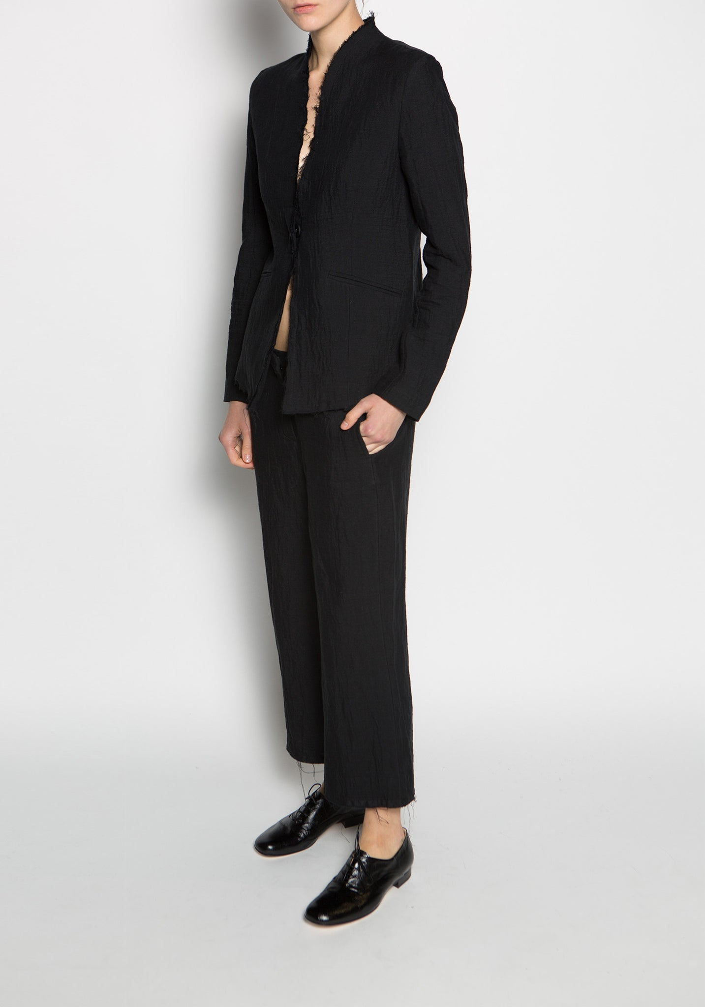 Thom Krom High Waisted Wide Leg Hose Trouser