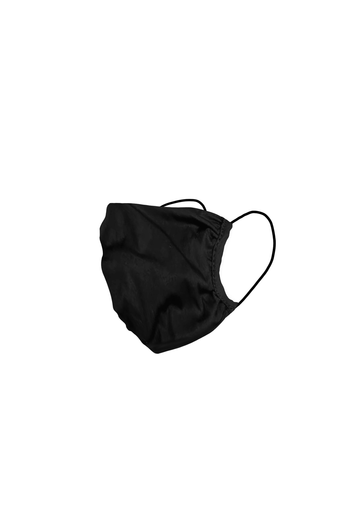 KES Peace Face Covering - Triple-Layer Black Cotton (2 in 1 Pack)