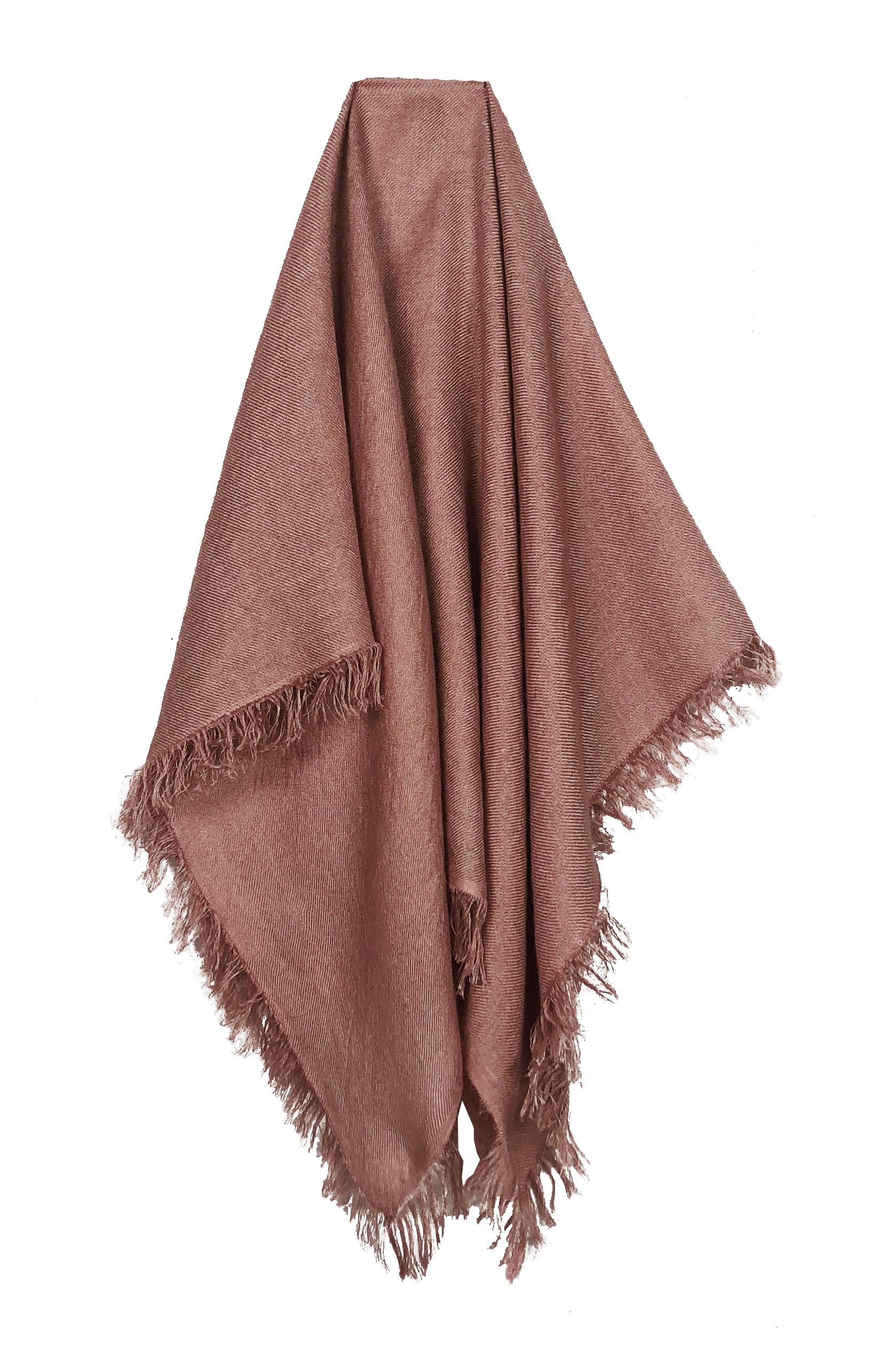 Ryan Roche Cashmere Silk Bandana with Fringes