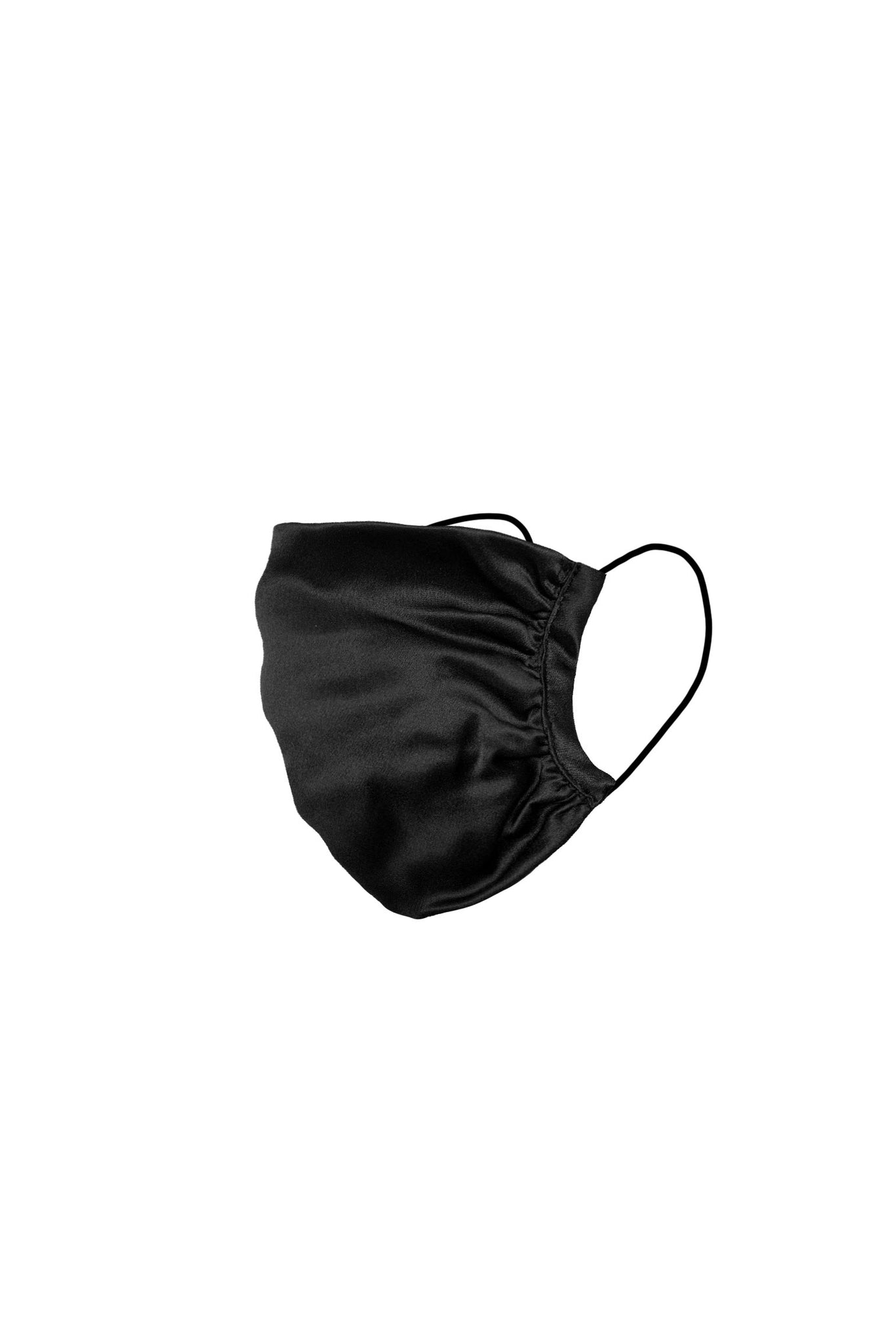 KES Peace Face Covering - Black Silk (2 in 1 Pack)