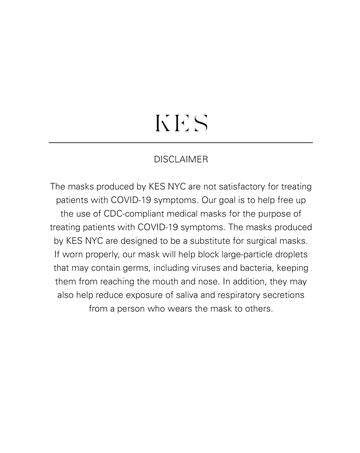 KES The Original Sustainable Washable Face Covering - Midnight Silk