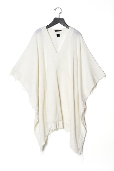 Crinkled Wool Poncho