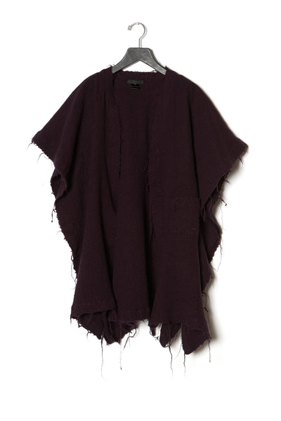 Cropped Slashed Poncho