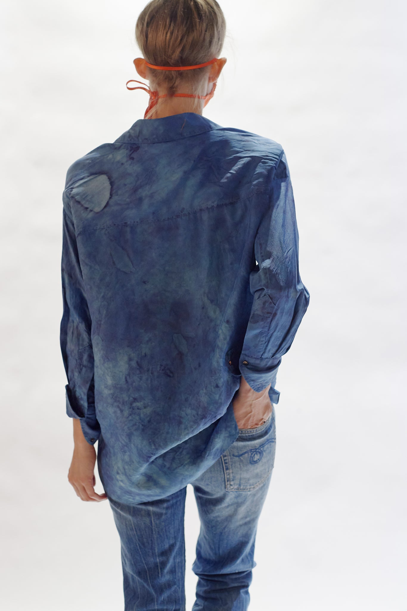 KES Oversized Men Button Down - Organic Indigo