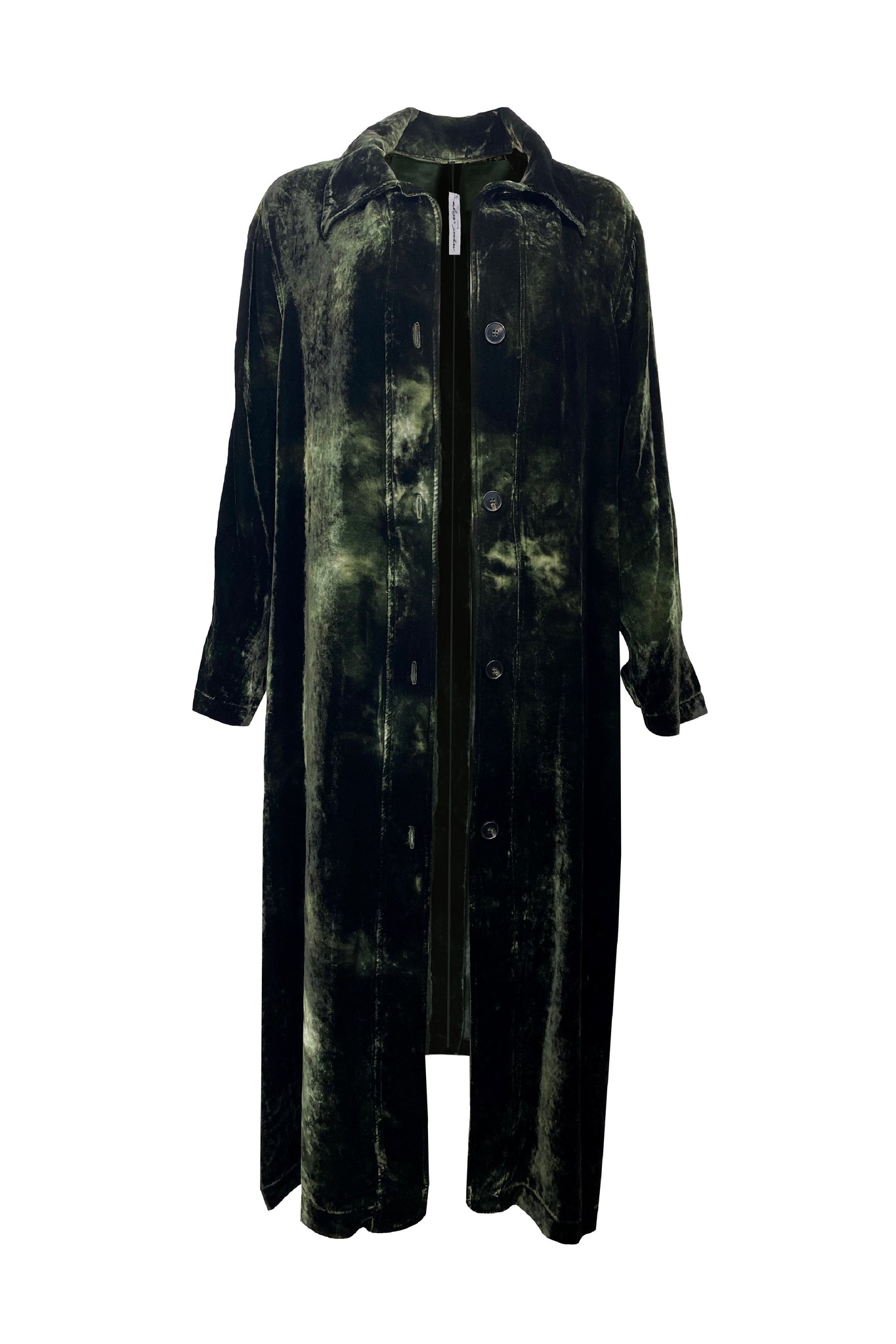 Raquel Allegra House Party Trench - Moss Cloud