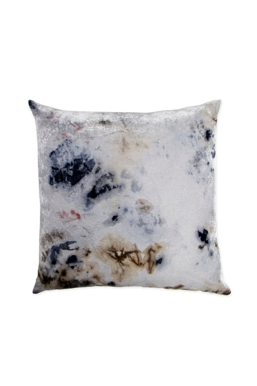 KES Sustainable Kapok Pillow- Silk/Linen - 24x24 - Organic Logwood