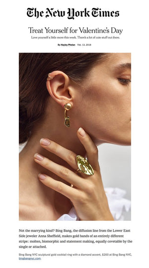 Bing Bang Louvre Arc Earring Jacket with Sphere