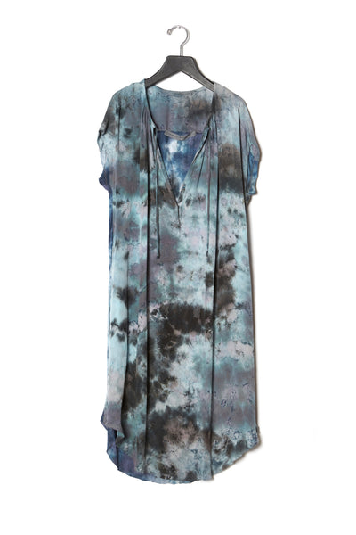 Raquel Allegra Shirred Combo Dress