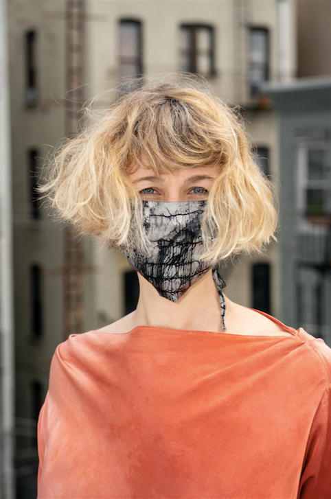 KES Sustainable Washable Face Mask - Black Handkerchief Print