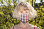 KES Sustainable Washable Face Mask - White Gingham  (1+1 donation)