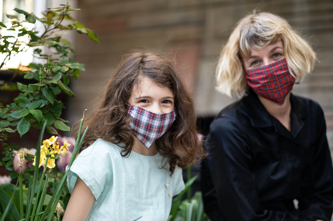 KES Sustainable Washable Face Covering - Gingham - KIDS