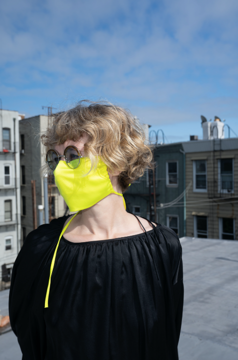 KES The Original Sustainable Washable Face Covering - Acid Lime