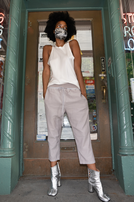 KES Drop Crotch Pants w/ Rib - Cold Lava Terry SS20