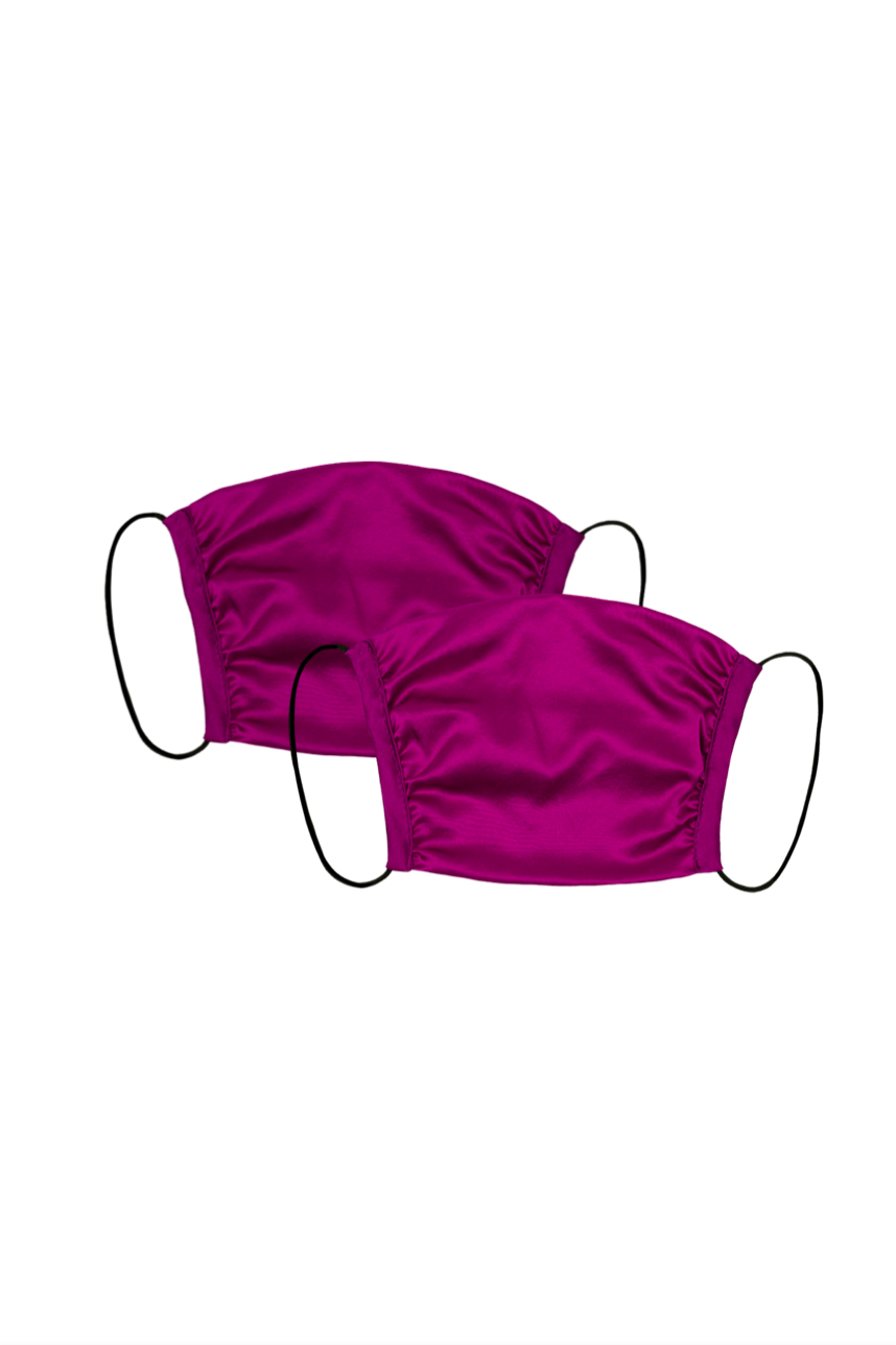 KES Peace Covering - Plum Silk (2 in 1 Pack)